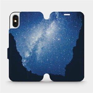 Flipové pouzdro Mobiwear na mobil Apple iPhone X - M146P Galaxie