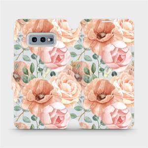 Flip pouzdro Mobiwear na mobil Samsung Galaxy S10e - MP02S Pastelové květy