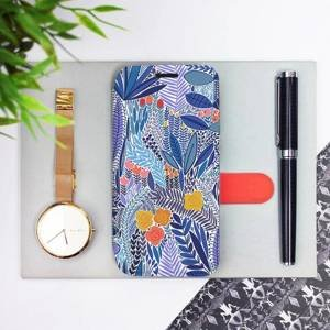 Flip pouzdro Mobiwear na mobil Samsung Galaxy M11 - MP03P Modrá květena