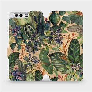 Flip pouzdro Mobiwear na mobil Huawei P10 - VP05S Sukulenty