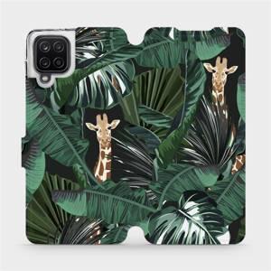 Flip pouzdro Mobiwear na mobil Samsung Galaxy A12 - VP06P Žirafky