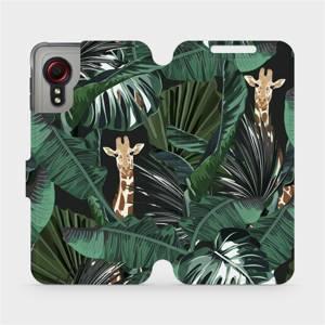 Flip pouzdro Mobiwear na mobil Samsung Galaxy Xcover 5 - VP06P Žirafky