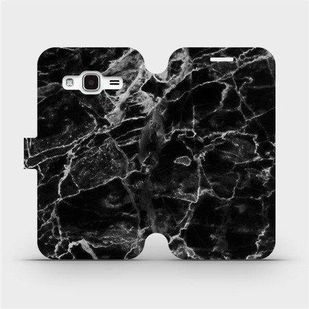Flipové pouzdro Mobiwear na mobil Samsung Galaxy J3 2016 - V056P Černý mramor