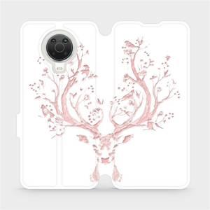 Flip pouzdro Mobiwear na mobil Nokia G20 - M007S Růžový jelínek