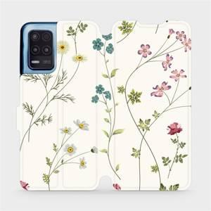 Flip pouzdro Mobiwear na mobil Realme 8 5G - MD03S Tenké rostlinky s květy