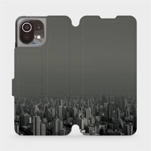 Flip pouzdro Mobiwear na mobil Xiaomi 11 Lite 5G NE - V063P Město v šedém hávu