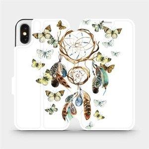 Flipové pouzdro Mobiwear na mobil Apple iPhone X - M001P Lapač a motýlci