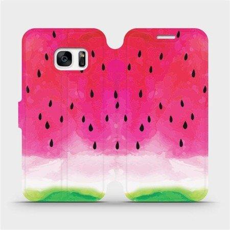 Flipové pouzdro Mobiwear na mobil Samsung Galaxy S7 Edge - V086S Melounek