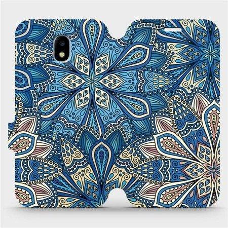 Flipové pouzdro Mobiwear na mobil Samsung Galaxy J3 2017 - V108P Modré mandala květy