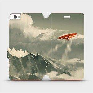 Flipové pouzdro Mobiwear na mobil Huawei P8 Lite - MA03P Oranžové letadlo v horách