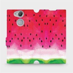 Flipové pouzdro Mobiwear na mobil Sony Xperia XA2 - V086S Melounek