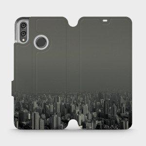 Flipové pouzdro Mobiwear na mobil Honor 8X - V063P Město v šedém hávu