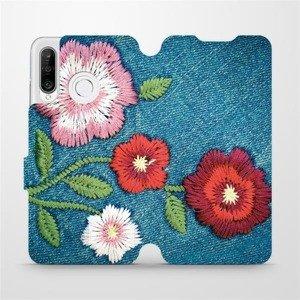 Flipové pouzdro Mobiwear na mobil Huawei P30 Lite - MD05P Džínové květy