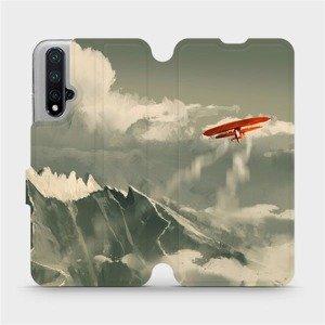 Flipové pouzdro Mobiwear na mobil Honor 20 - MA03P Oranžové letadlo v horách