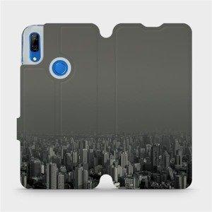 Flipové pouzdro Mobiwear na mobil Huawei P Smart Z - V063P Město v šedém hávu