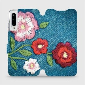 Flipové pouzdro Mobiwear na mobil Xiaomi Mi A3 - MD05P Džínové květy